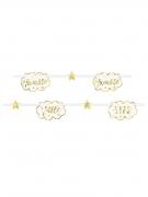 Ghirlanda in cartone Twinkle Twinkle Little Star oro e bianco