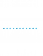 Ghirlanda con pompom azzurri 2.74 m