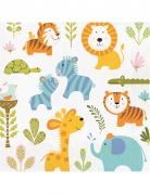 16 tovaglioli di carta animali della giungla