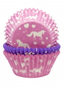 75 pirottini in carta per cupcakes unicorno