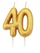 Candelina di compleanno oro brillante 40 anni