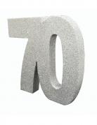 Centrotavola argentato con brillantini 70 anni