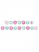 Ghirlanda 1° compleanno rosa 240 cm