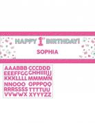 Banner da personalizzare 1° compleanno rosa 152 cm
