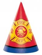 8 cappellini per festa pompieri