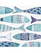 16 tovaglioli di carta pesci blu