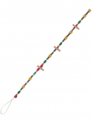 Ghirlanda di perline multicolor con mollette