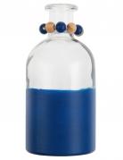 Vaso di vetro bicolore blu