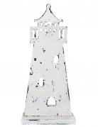 Faro in legno bianco 27 cm