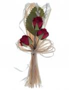 2 bouquet artificiali di rose rosse