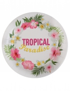 10 piatti in cartone Tropical Paradise 23 cm