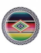 10 piatti in cartone multicolor Messico 23 cm