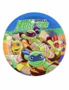 8 Piatti piccoli in cartone Tartarughe Ninja™ 18 cm