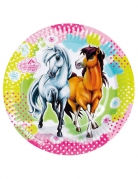 8 piatti in cartone Charming Horses™ 23 cm