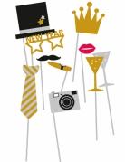 Kit photobooth 10 accessori Capodanno