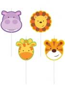 4 candeline animaletti della giungla
