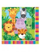20 tovaglioli di carta animaletti della giungla