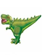 Palloncino alluminio dinosauro marroneverde T-rex
