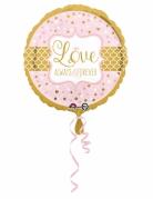 Palloncino in alluminio Love rosa e oro