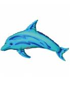 Mini palloncino alluminio delfino blu