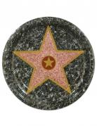 8 piatti in cartone stella di Hollywood 23 cm
