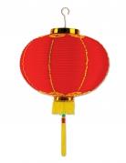 Lanterna cinese in carta rossa con nappa