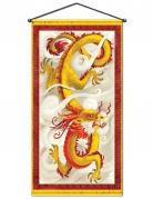 Decorazione per parete drago cinese rosso e giallo