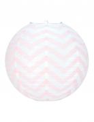 Lanterna giapponese bianca a zig zag rosa