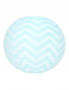Lanterna giapponese bianca a zig zag azzurri