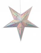 Lanterna a stella pastello iridescente 60 cm
