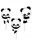 3 decorazioni per torta baby panda