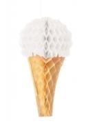 Decorazione gelato in carta alveolata bianca