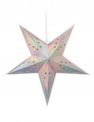 Lanterna a stella pastello iridescente 30 cm