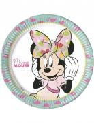 8 piatti in cartone Minnie™ tropical 23 cm