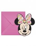 6 inviti per festa con buste Minnie™ tropical