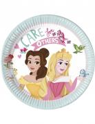 8 piattini in cartone a motivi Principesse Disney™ 20 cm