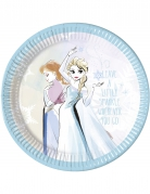 8 piatti in cartone Frozen™ 23 cm