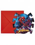 6 inviti con buste rosse Spiderman™