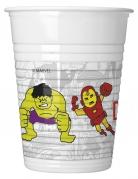 8 bicchieri in plastica grigi Avengers™