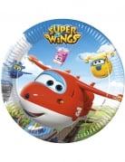 8 piatti in cartone Super Wings™ 23 cm