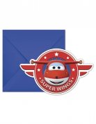 6 inviti per feste con buste Super Wings™