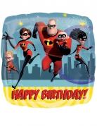 Palloncino alluminio quadrato Happy Birthday Gli incredibili™