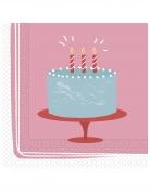 20 tovaglioli di carta torta buon compleanno