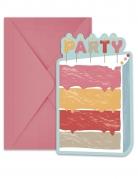6 inviti per festa torta buon compleanno