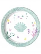 8 piatti in cartone fondale marino 23 cm