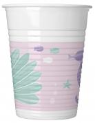 8 bicchieri di plastica fondale marino
