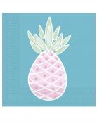 20 tovaglioli di carta ananas pastello