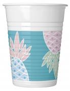 8 bicchieri in plastica ananas pastello