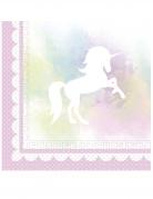 20 tovaglioli di carta unicorno rosa e pastello