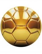 8 piatti in cartone pallone calcio oro 23 cm